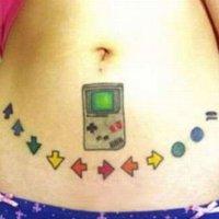 Konami Code tattoo